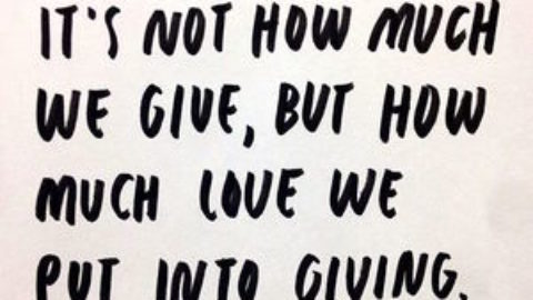 GIVING WITH LOVE