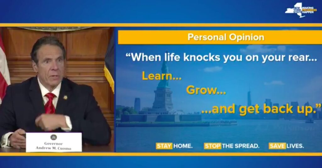 Andrew Cuomo Life lessons RL